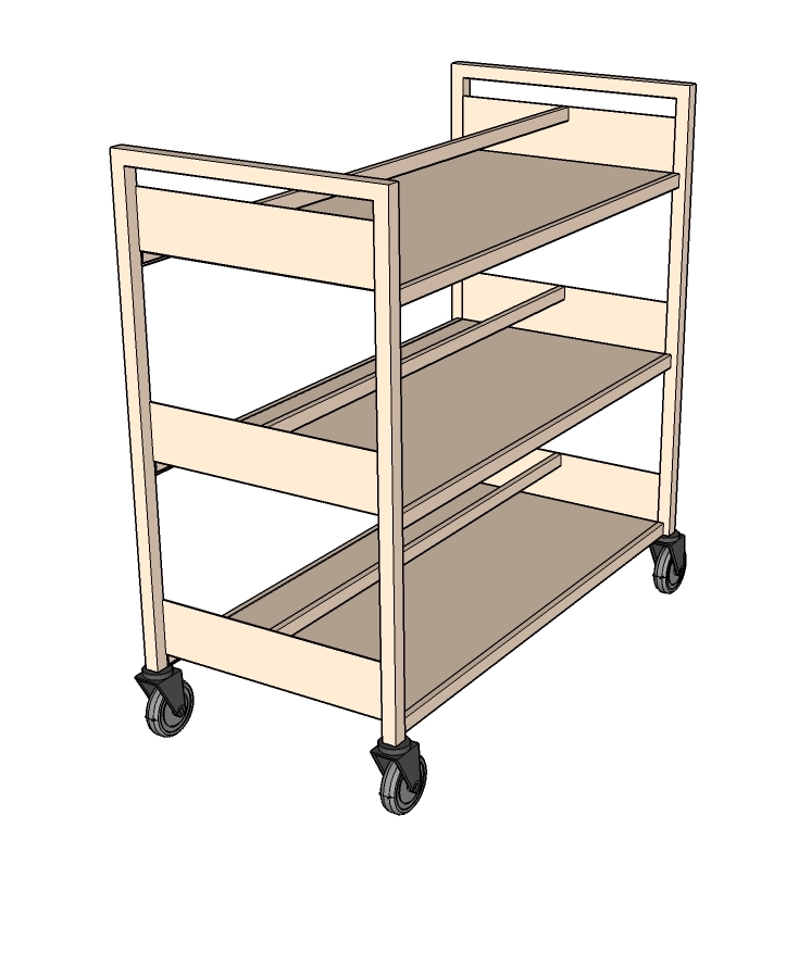 Portable Storage Trolley with Divider